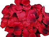 Lumierechat 花びら レッド 1000枚 セット フラワーシャワー 結婚式 誕生日 クリスマス パーティーグッズ お祝い 飾り シャワー グッズ (赤)