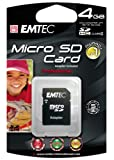 EMTEC Class 4 microSDHC Flash Memory Card, 4 GB with SD Adapter