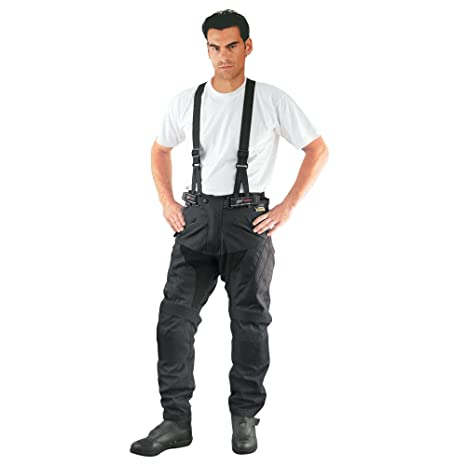 Roleff Racewear 4701 Pantalon Moto/Bretelles Textile, Noir, XS