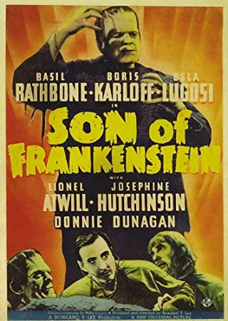 Son of Frankenstein Movie Poster (27 x 40 Inches - 69cm x 102cm) (1939) Style C -(Basil Rathbone)(Bela Lugosi)(Boris Karloff)(Lionel Atwill)(Josephine Hutchinson)(Donnie Dunagan)