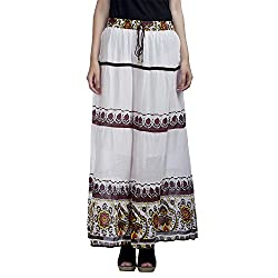 MansiCollections Women's Causal Printed A-Line Skirt (24)