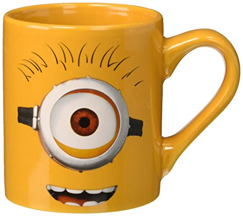 Silver Buffalo DM2232 Despicable Me One-Eyed Minion Ceramic Mug, 14-Ounce, Yellow - 1