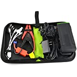 Esmezon 13600mah Green/Black Portable Power Bank and Car Jump Starter