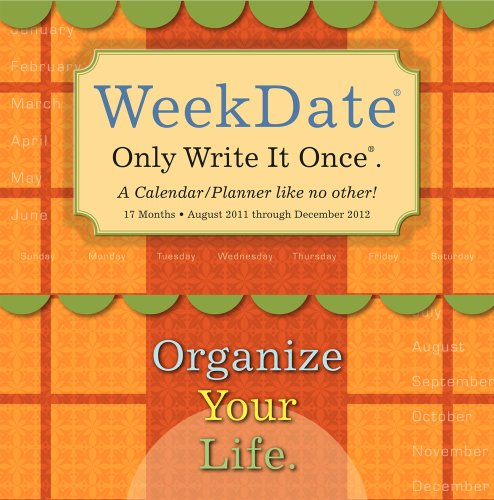 WeekDate 2012 Wall Planner Calendar  (August, 2011-December, 2012)