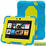 "New Hot Item High Quality Kindle Fire HD 7""Cover Case Slim Fit Silicone Plastic Dual Protective Back Cover Kid Proof Case Standing Case for Amazon Kindle Fire HD 7 Inch(will Only Fit Kindle Fire HD 7""Previous Generation)-multiple Color Options (Light Blue/Light Green)"