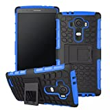 LG G4 Case, Sophia Shop Heavy Duty Tough Rugged Dual Layer Case with Built-in Kickstand, TANK Series Slim Fit Dual Layer Hybrid Armor Protective Case Cover for LG G4 ToughBox Carrier Compatibility AT&T, Verizon, T-Mobile, Sprint, And All International Carriers (Blue)