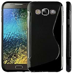 Smart Choice Anti-skid Soft TPU Back Case Cover for Samsung Galaxy E5 (Black)