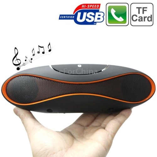 BTK1015 Rugby Mini Wireless Hands-free Subwoofer Speaker Portable Bluetooth Speaker for iPad / iPhone / Other Bluetooth Mobile Phone, Support TF / AUX / USB / FM Radio(Orange)