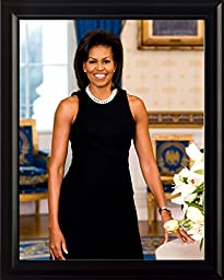 Michelle Obama 2009 first term official portrait 8x10 Framed Photo