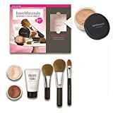MEDIUM BEIGE BareMinerals 8-Piece Get Started Kit - Set includes: 1x Original Mineral Veil, 1x Warmth All Over Face Colour, 1x Full Flawless Face Brush, 1x Flawless Application Face Brush, 1x Maximum Coverage Concealer Brush, 1x Prime Time Foundation Pri