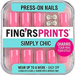Fing'rs Prints Simply Chic Press-on Nails, Pretty in Pink 31030