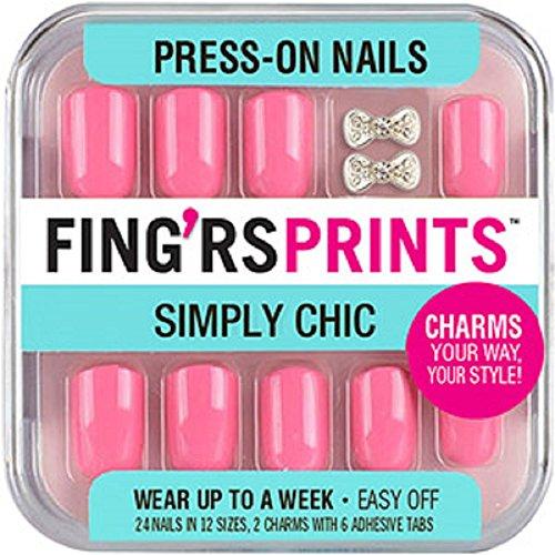 Fing'rs Prints Pre incollato Simply Chic-Chiodi, colore: verde