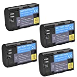 (Pack of 4)High Power LP-E6N LP-E6 Rechargerable Battery For Canon EOS 5D Mark II,EOS 5D Mark III,EOS 6D,EOS 7D,EOS 60D,EOS 60Da,EOS 70D,7DmarkII,7DmarkIII Digital Cameras
