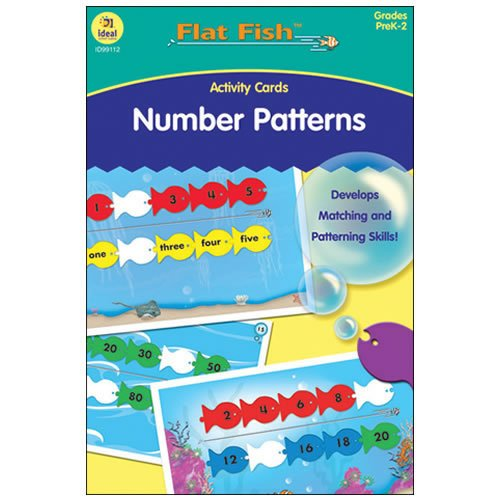 Ideal School Supply Number Patterns Flash Card