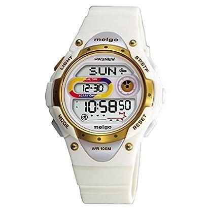 Pasnew Led Waterproof 100m Sports Digital Watch For Children Girls Boys White Lnjtendt 71