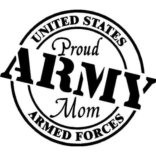 Proud Army Mom Vinyl Wall/car Decal