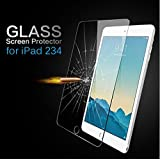 TIRIN Apple iPad 234 [2nd 3rd 4th Generation] Premium Tempered Glass SHATTERPROOF Scratch Resistant, Anti Fingerprint, Anti Bubble, Explosion Proof, Crystal Clear Screen Protector (Color: Clear)