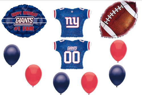 New York Giants 1 Fan Birthday Party Balloons Decorations Supplies