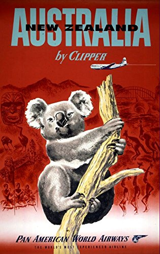 pan-am-australia-by-clipper-wonderful-a4-glossy-art-print-taken-from-a-rare-vintage-travel-poster