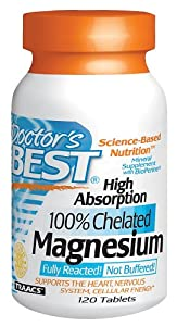 Doctor's Best - High Absorption 100% Chelated Magnesium, 120 tablets