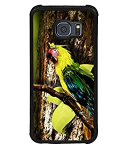 printtech Wild Colorful Parrot Tree Back Case Cover for Samsung Galaxy S6 Edge::Samsung Galaxy Edge G925