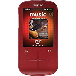 SanDisk Sansa Fuze+ 4 GB MP3 Player (Red)