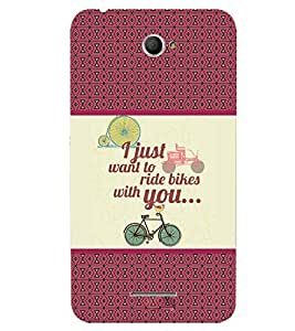 Fuson 3D Printed Quotes Designer back case cover for Sony Xperia E4 - D4380