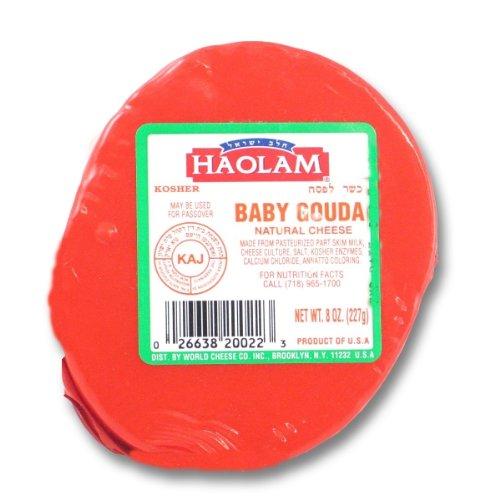 Haolam - Cholov Yisroel Baby Gouda Cheese Wheels (8 oz.) - 6 Pack