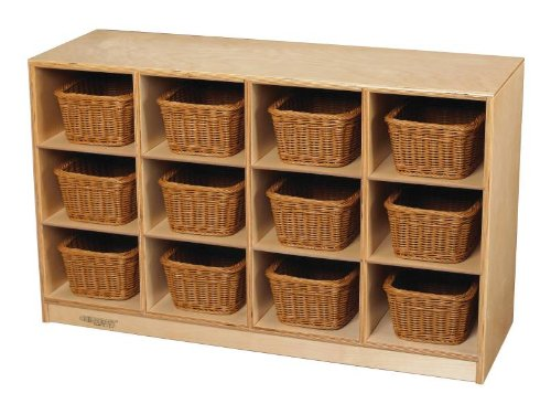 Childcraft 12 Tray Toddler Cubby - 38 3/8 X 13 X 24 Inch - Trays Not Included front-228183