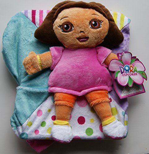 Dora the Explorer Cuddle 'N Go Ultra-Soft Blanket and Travel Buddy