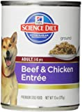 Hill's Science Diet Adult Advanced Fitness Beef and Chicken Entree Dog Food, 13-Ounce Can, 12-Pack