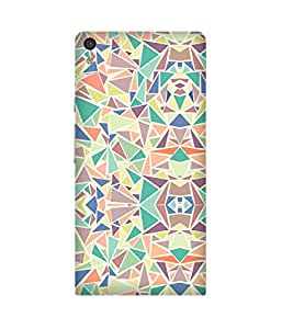 Pastel Triangles Huawei Ascend P6 Case
