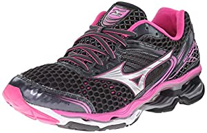 Mizuno Women's Wave Creation 17 Running Shoe, Dark Shadow/Electric/Silver,8 M US