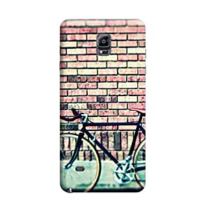 Desicase Samsung Note 4 Vintage Cycling 3D Matte Finishing Printed Designer Hard Back Case Cover (Multicolor)