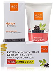 VLCC Honey Moisturizer, 100ml with Free Cold Cream, 100g