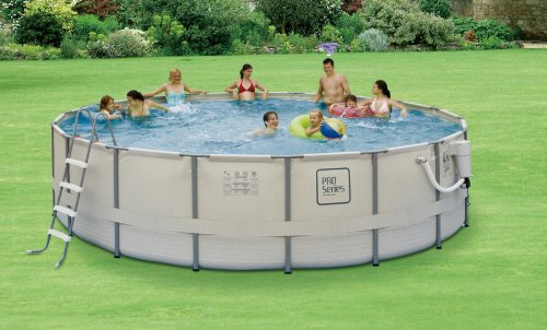 Summer waves elite metal frame swimming pool package 15 for Piscine 24 pieds