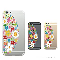 Hamee Designer Case from Japan Clear Protective Plastic Hard Cover for iPhone 6 / 6s (Flower Design / Moon Shaped)