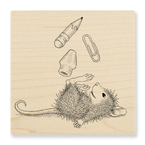 "Stampendous Wooden Handle Rubber Stamp, ""School Supplies"""