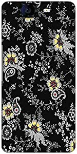 Snoogg Black Yellow Pattern 2480 Designer Protective Back Case Cover For Micromax Canvas Knight A350