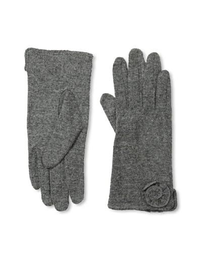 Sarajane Women's Rosette Gloves, Charcoal