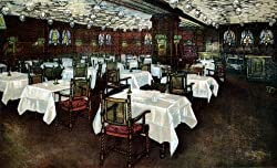 Blackstone Hotel Dining Room, Chicago - Fine-Art-Quality Photographic Print - 8x10-inch Enlargement from a Classic Vintage Postcard