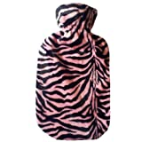 Warm Tradition Pink & Black Tiger Hot Water Bottle Cover - COVER ONLY- Made in USA