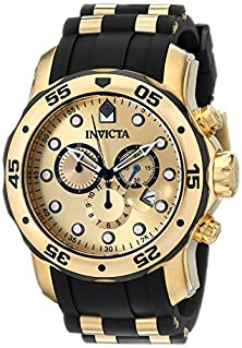 buy Invicta Men'S 17885 Pro Diver Ion-Plated Stainless Steel Watch With Polyurethane Band