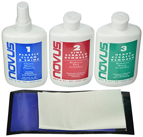 Novus 1 2 3 Kit Plastic Polish And Scratch Remover 8 Oz On 3 Bottles Inside Kit Products