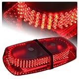 240 LED Magnetic Rooftop Emergency Hazard Warning Strobe Lights - Red
