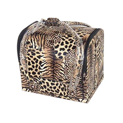 Eenkula Personalizzati Leopard Beauty Case Makeup Box 29.5 * 23 * 25cm trucco bagaglio a mano valigia Nail Art