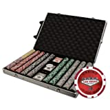 Brybelly 1000-Count Las Vegas Poker Chip Set in Rolling Aluminum Case, 14gm