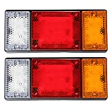 MaxSale Pair 12V Truck Car Bus Tail Trailer Reverse LED Ute Lights Indicator