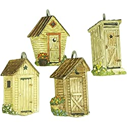 Park Designs Outhouse Shower Curtain, Hook Set