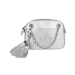 Tory Burch Thea Crossbody Chain Bag Silver